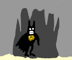 Batman in a Cave