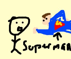Superman flying towards you!