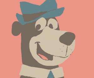 Bear wearing a collar