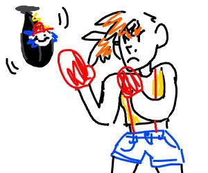 Misty Pokemon Boxing Training W Speed Bag Drawception
