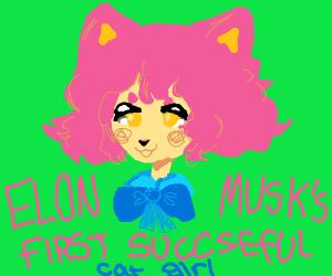 elon musk's first successful cat girl / trap