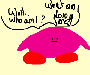 kirbys question their existence