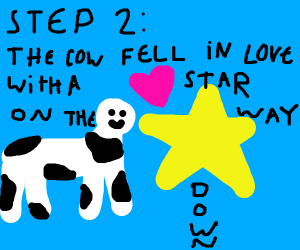 step 1: the cow jumped over the moon