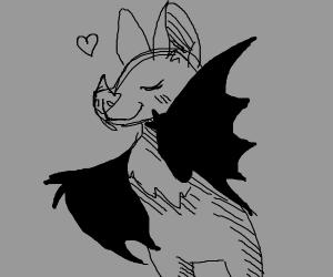 Cute bashful bat