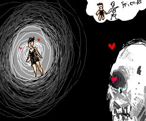 skeleton wants a human friend