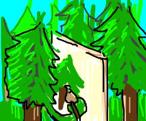 Pine tree drawing painting of pine tree