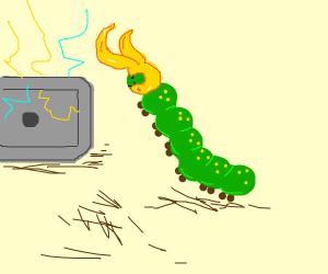 a caterpillar aspires to be Loki