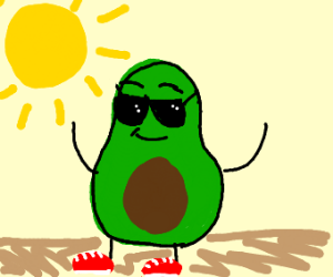 freshavacado with sunglasses