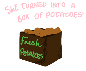 Fresh box o' potato