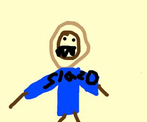 lion wearing slazo sweater