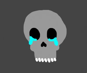Dead crying emoji