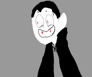 dracula with bloody teeth