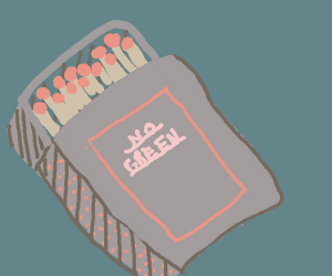 Match box says NO GREEN