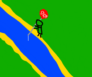 Fishing with a Stop Sign