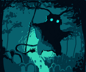 Spooky forest spirit