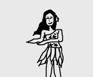 Hawaiian lady