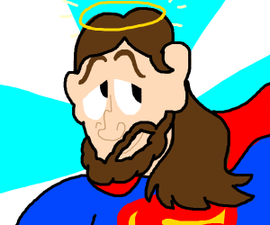 Jesus dressed as Superman