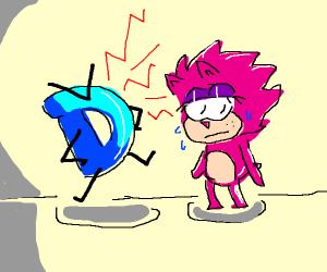 Drawception D very mad at Sonic OC