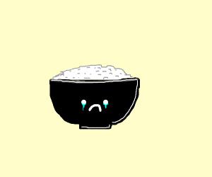 Rice bowl crying