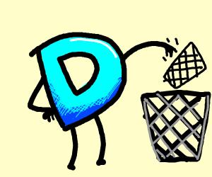 Drawception throws away trash