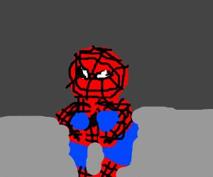 Spiderman crouching