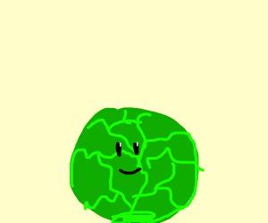 Happy green lettuce