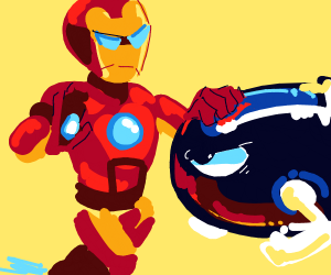 iron man stopping a bullet