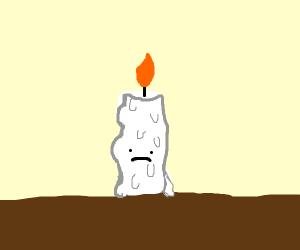 sad candle