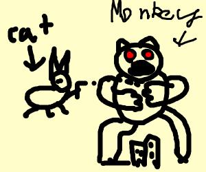 Kitty firing King Kong