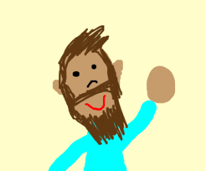 Beard guy waves hello