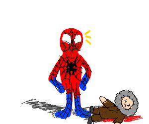 Spider-Man proud of dead Monk