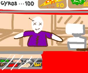voodoo doll works at fast food