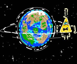 Bill cipher orbits the earth