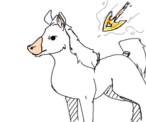 horse about to get hit by a arrow