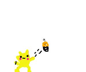 Pikachu yeets a baby