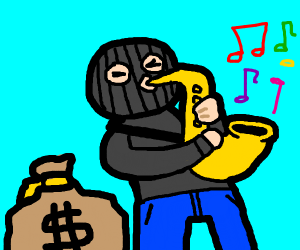 saxophone theif