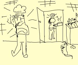 chef is taking a smokebreak