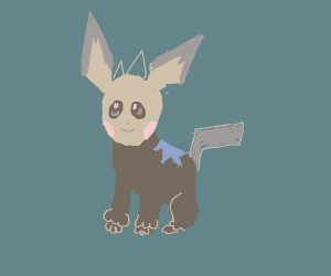 Lillipup crossed with pichu