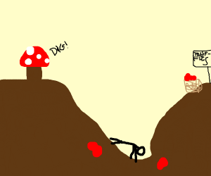 Mushroom forces human 2 dig for truffles