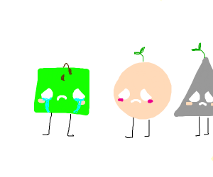 sad green square
