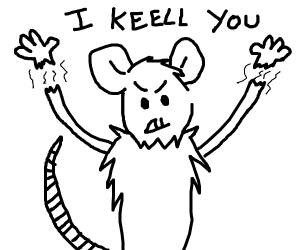 rat with no nose and flying hands treathens