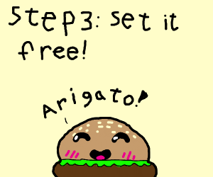 Step 2: Take the burger from the potato