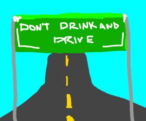 A generic freeway advertisement