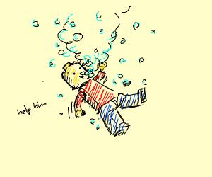 lego man drowning