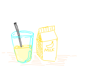 Milk which is yellow