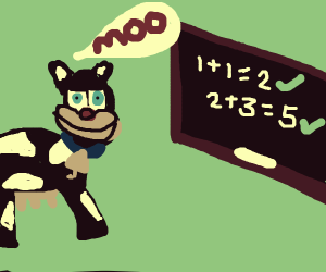 cow is good at maths
