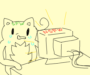 Sfw content watching Nsfw content