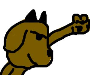 Devil dog wanna high five ya