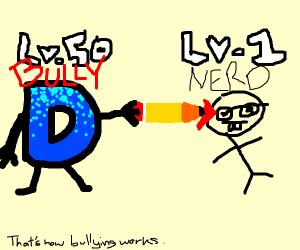 Drawception D bullies a boy