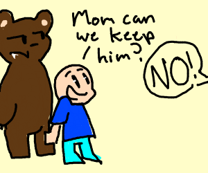 Young boy brings a grizzly bear home